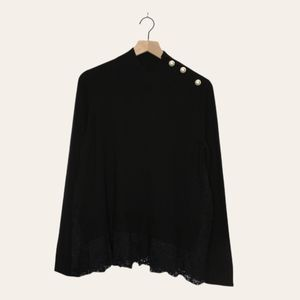 Kate Spade Lace Inset Wool Sweater